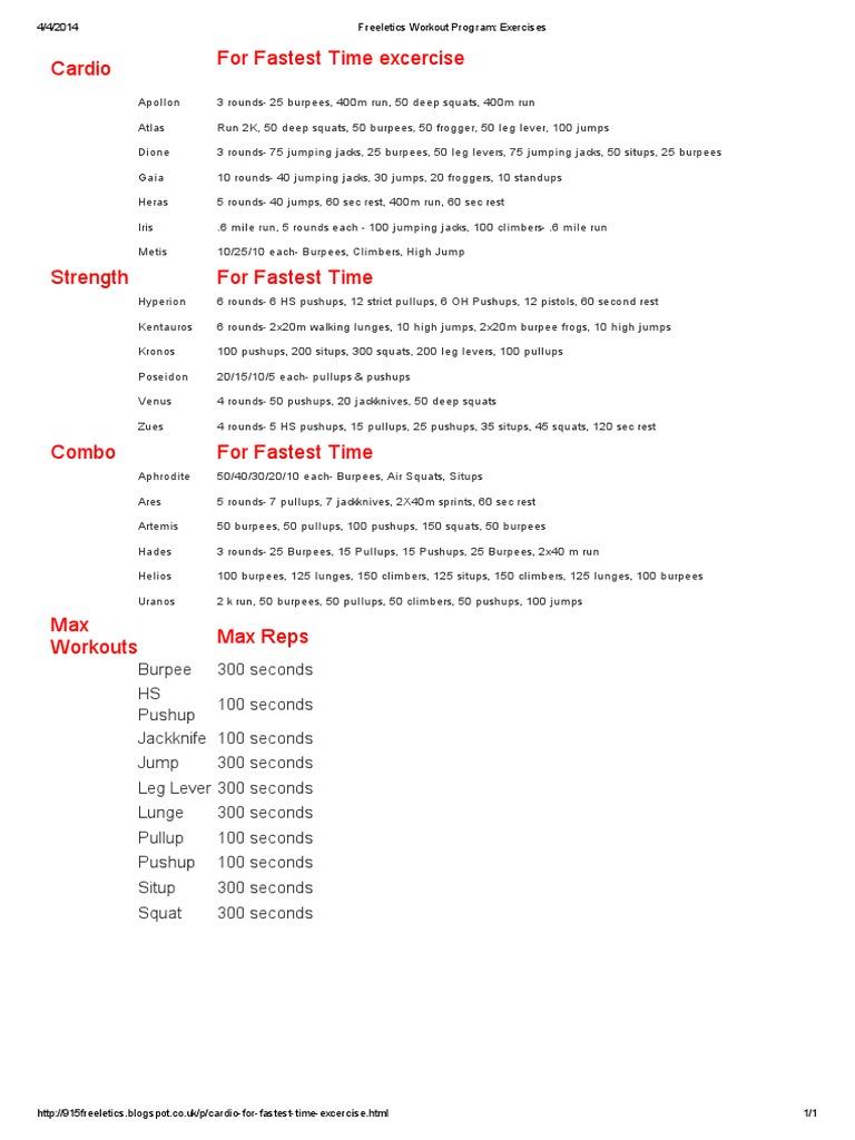 Freeletics Workout Program_ Exercises