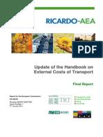 2014 Handbook External Costs Transport