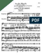 An Die Music-Schubert