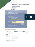 Password Change Procdure