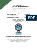 Study of Hydraulic Disc Brakes