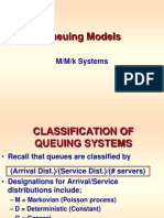 Queuing -- Mmk Systems