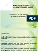 Introducao a Fitoterapia - Informacoes Basicas