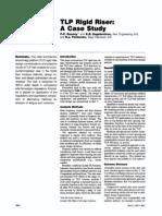 TLP Rigid Riser Case Study
