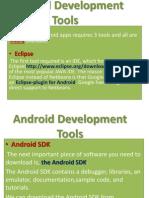 Android Development, Development tool