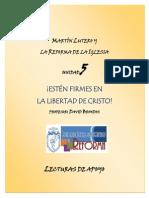 Lutero y La Reforma Lecturas de Apoyo Unidad 5