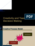 Org Behaviour- Creativity and Team Decisions