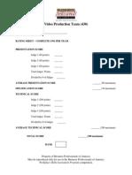 430 video production team presentation rubric 2014