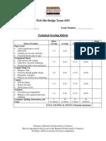 435 web site design team technical rubric 2014