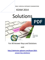 KEAM Solutions 2014 for Engineering (Physics & Chemistry)