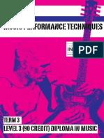 Unit 23 Music Perf. Techniques (Guitar) T3
