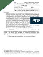 trabalho de dependência em filosofia 2009