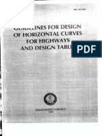 Irc-38-Part-1 Horizontal Curves for Highways and Design Tabl