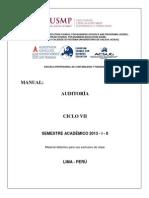 MANUAL AUDITOR�A - 2013 - I - II