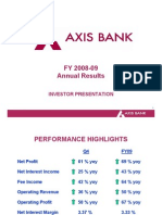 Axis Bank Analyst 08 09