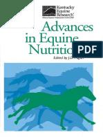 Advances in Equine Nutrition IV, Joe d. Pagan Ph.d., 2009