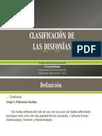 4.Clasificación de las Disfonías