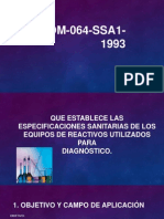 NOM 064 SSA1 1993 Exposicion