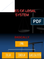 Types of Legal System (Adversarial)
