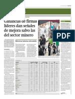 Ganancias firmas líderes mejoran salvo mineras_Gestión 21-04-2014