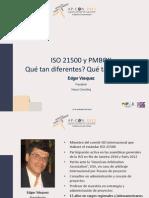 ISO21500 vs PMBOK Comparacion
