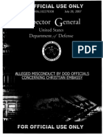 DoD Inspector General Report on Christian Embassy