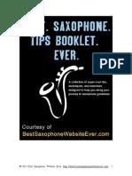 Best Saxophone Tips Booklet Ever
