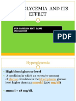Hyperglycemia and Its Side Effect