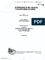 Collapse Resistance of Casing