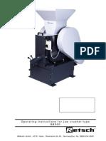 Manual de utilizare concasor BB300