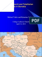 Church and the Totalitarian Governments Slovakia -College Lutheran
