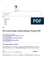 Rf Circuit Design Ludwig Solution Manual - Free PDF Downloads