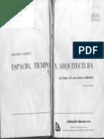 Giedion Espacio Tiempo Arquitectura Indice_LP