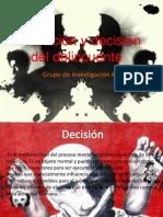Motivación y decisión del delincuente