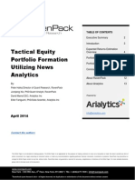 Tactical Equity Portfolio Formation Utilizing News Analytics
