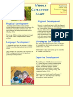 middle childhood  fact sheet