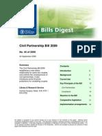 Civil Partnership Bills 2009  - Digest for Oireachtas Members