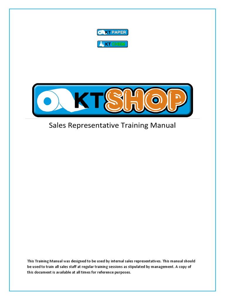 Sales Representative Training Manual | Merchandising | Sales