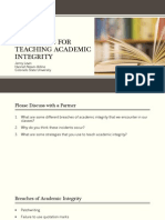 practical strategies for teaching academic integrity