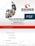 Presentation on Eicher Motors Ltd