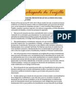 Inconstitucionalidad Del Proyecto de Ley de La Union Civil Para Personas Del Mismo Sexo. Por el Arzobispo de Trujillo