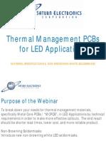 LED PCB, Thermal PCB Design, LED Webinar, MCPCB, Non-Browning LED Soldermask