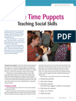 circle time puppets teaching social skills