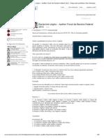 TEC Concursos - Raciocínio Lógico - Auditor Fiscal da Receita Federal 2012 - Artigo pelo professor Vítor Menezes