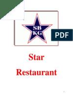 Star Restaurant Consumer Behavior