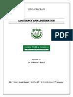 Legitimacy and Legitimation Conflict of laws