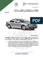 AlertaProfecoVolkswagen Jetta A4 2013