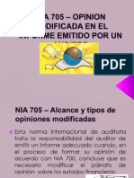 Nia 705 - Opinion Modificada en El Informe