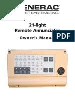 21 Light Remote Annunciator