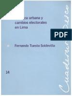 1989 Pobreza Urbana y Cambios Electorales en Lima